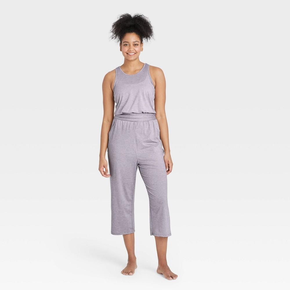 Women 39 S Knit Jumpsuit All In Motion 8482 Light Gray L