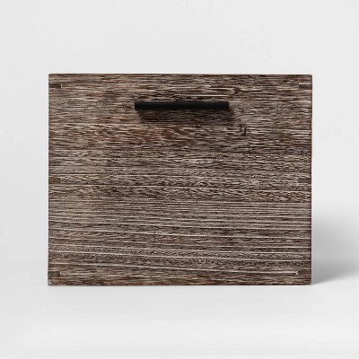 Small Decorative Silver Wood Crate 8 x11  - Project 62™