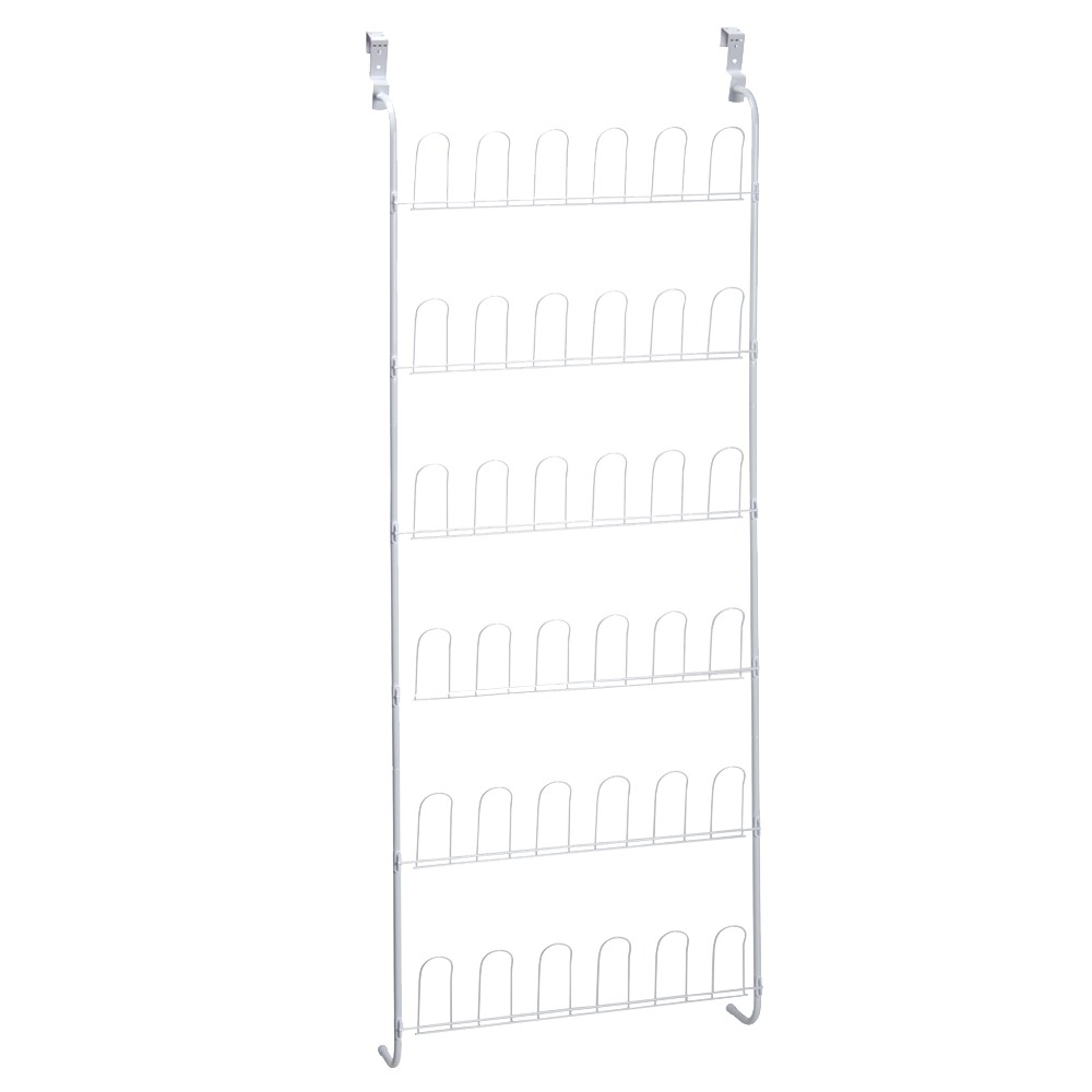 Image of Over the Door 18Pair Shoe Rack White - Room Essentials