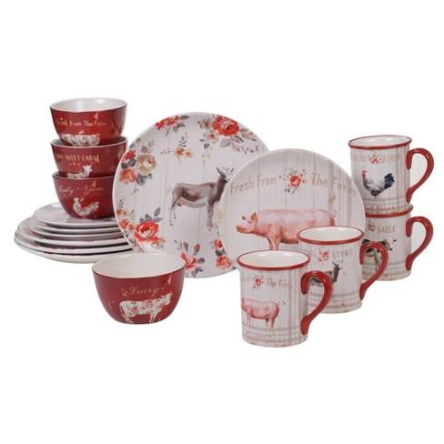 16pc Earthenware Farmhouse Dinnerware Set White - Certified International - image 1 of 1