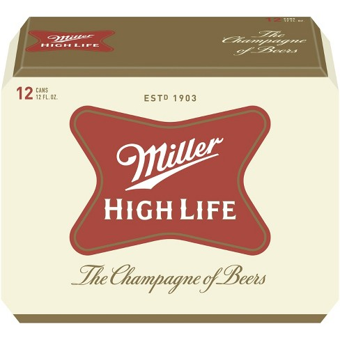 Miller High Life Beer - 12pk/12 fl oz Cans - image 1 of 4