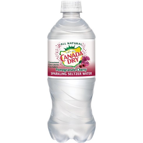 Canada Dry Pomegranate Cherry Seltzer Water  - 20 fl oz Bottle - image 1 of 1