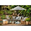 Corrinthian Driftwood Wicker Outdoor Loveseat Cushion Black - Pillow Perfect - image 2 of 3