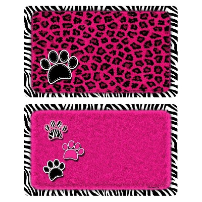 Drymate Multi-Use Pet Exotics Mat Set - Pink and Black (2ct)