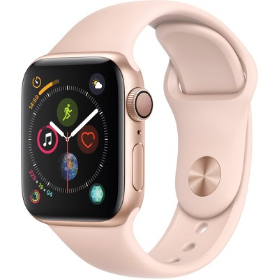 Apple Watch Series 4 GPS 40mm Gold Aluminum Case with Sport Band - Pink Sand