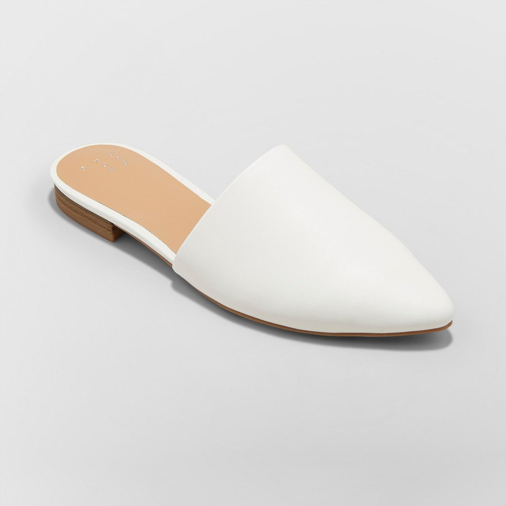 Women's Junebug Backless Mules - A New Day White 8