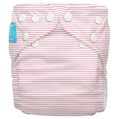 Charlie Banana All-in-One Reusable Diaper 1 pack, One Size - Baby Pink Pencil Stripe