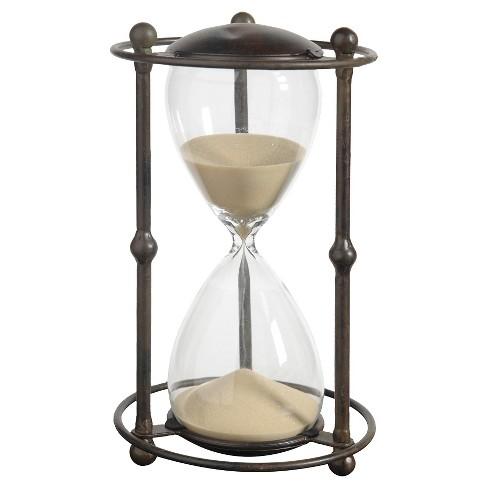 Decorative Hourglass Figurine Tan Target - Decorative-hourglass