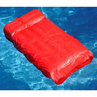 Swimline Solstice 15030R SunSoft Swimming Pool Inflatable Fabric Lounger, Red