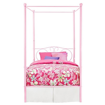 Full Clara Metal Canopy Bed - Room & Joy