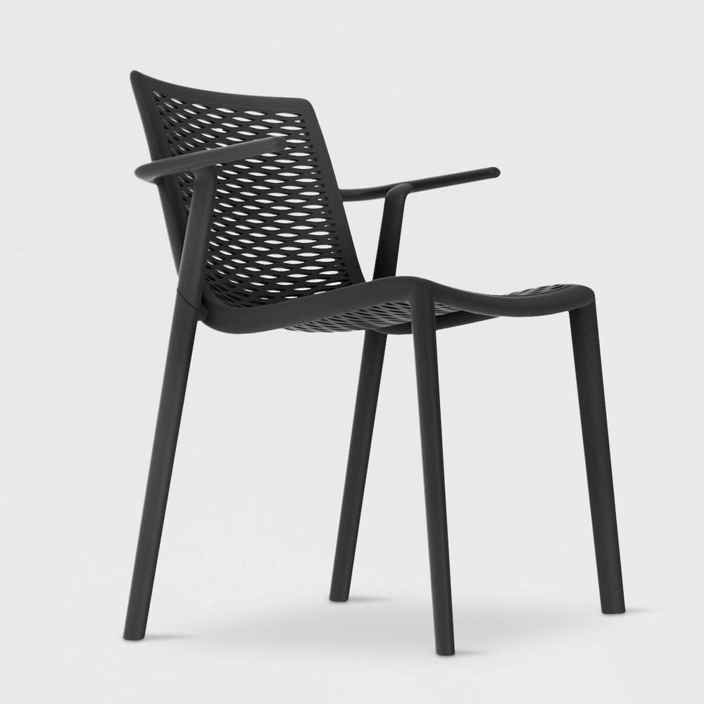 Image of Net - Kat 2pk Patio Armchair - Black - RESOL