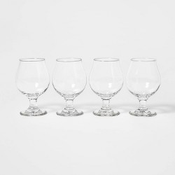16oz 4pk Glass Tulip Beer Glasses - Threshold™