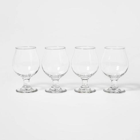 16oz 4pk Glass Tulip Beer Glasses - Threshold™ - image 1 of 1