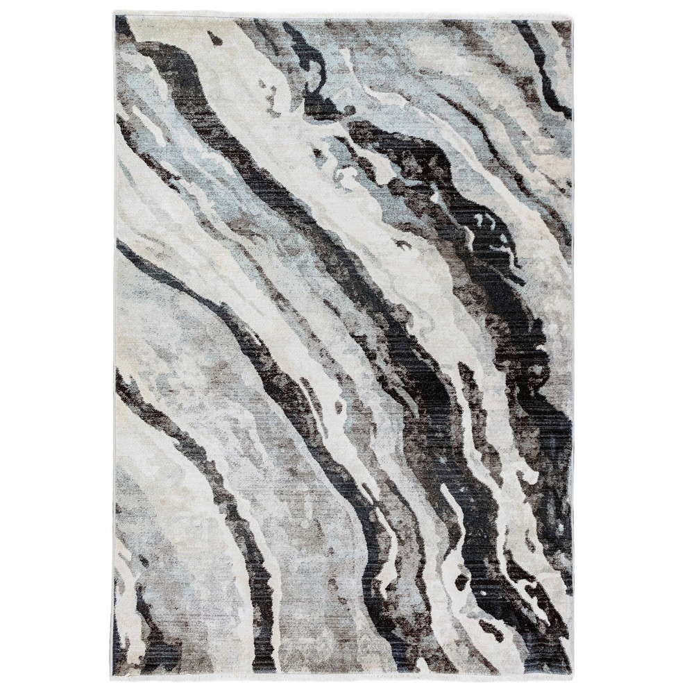 5'X8' Shapes Woven Area Rug Gray - Liora Manne
