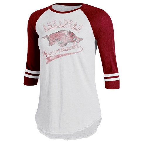Arkansas Razorbacks Women's Retro Tailgate White/3/4 Sleeve T-Shirt - image 1 of 1