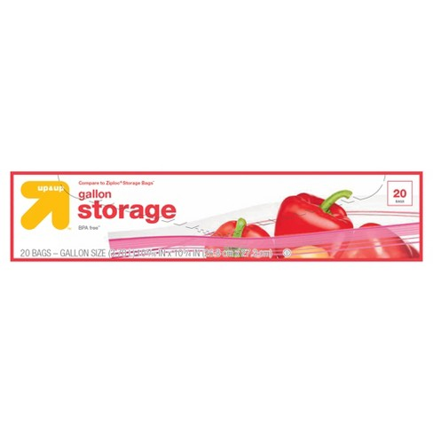 Double Zipper 1gal Storage Bags 20ct - Up&Up™ (Compare to Ziploc® Storage Bags) - image 1 of 1