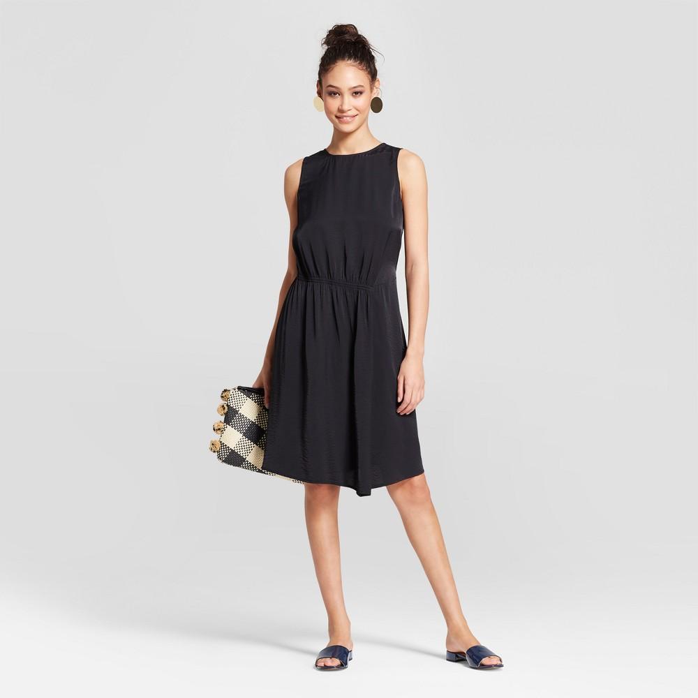 Women S Asymmetric Front Shirring Dress Mossimo 8482 Black Xxl