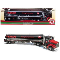 """Texaco"" Gasoline Tanker Truck ""Driving Performance"" Black 1/43 Diecast Model by Autoworld"