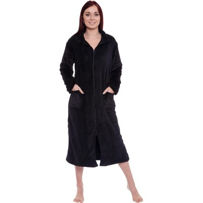 Silver Lilly - Women's Plush Zip Up Robe