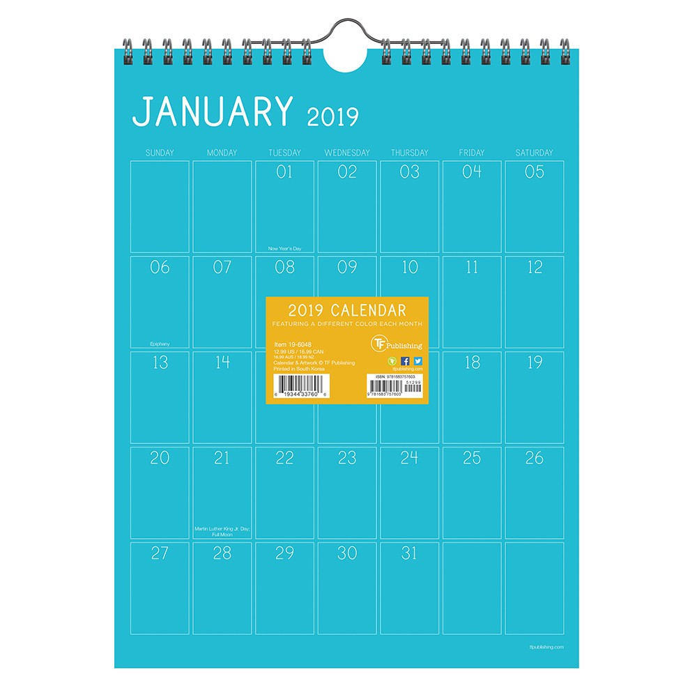 2019 Wall Calendar Color Collection- TF Publishing