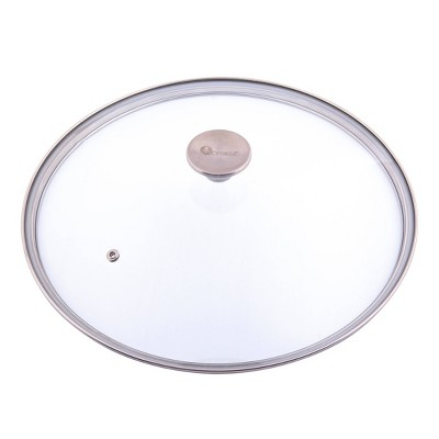 "Victoria Glass Lid with Stainless Steel Knob for 12"" Skillet"