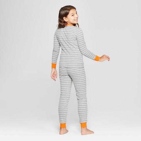 17ecfd742f Snooze Button Kid s Skeleton Pajama Set - Gray   Target