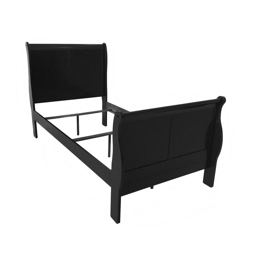 Twin Louis Philippe Iii Bed Black - Acme
