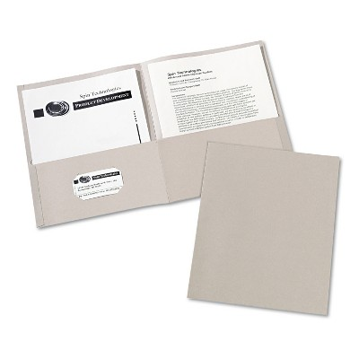 Avery Two-Pocket Folder 40-Sheet Capacity Gray 25/Box 47990