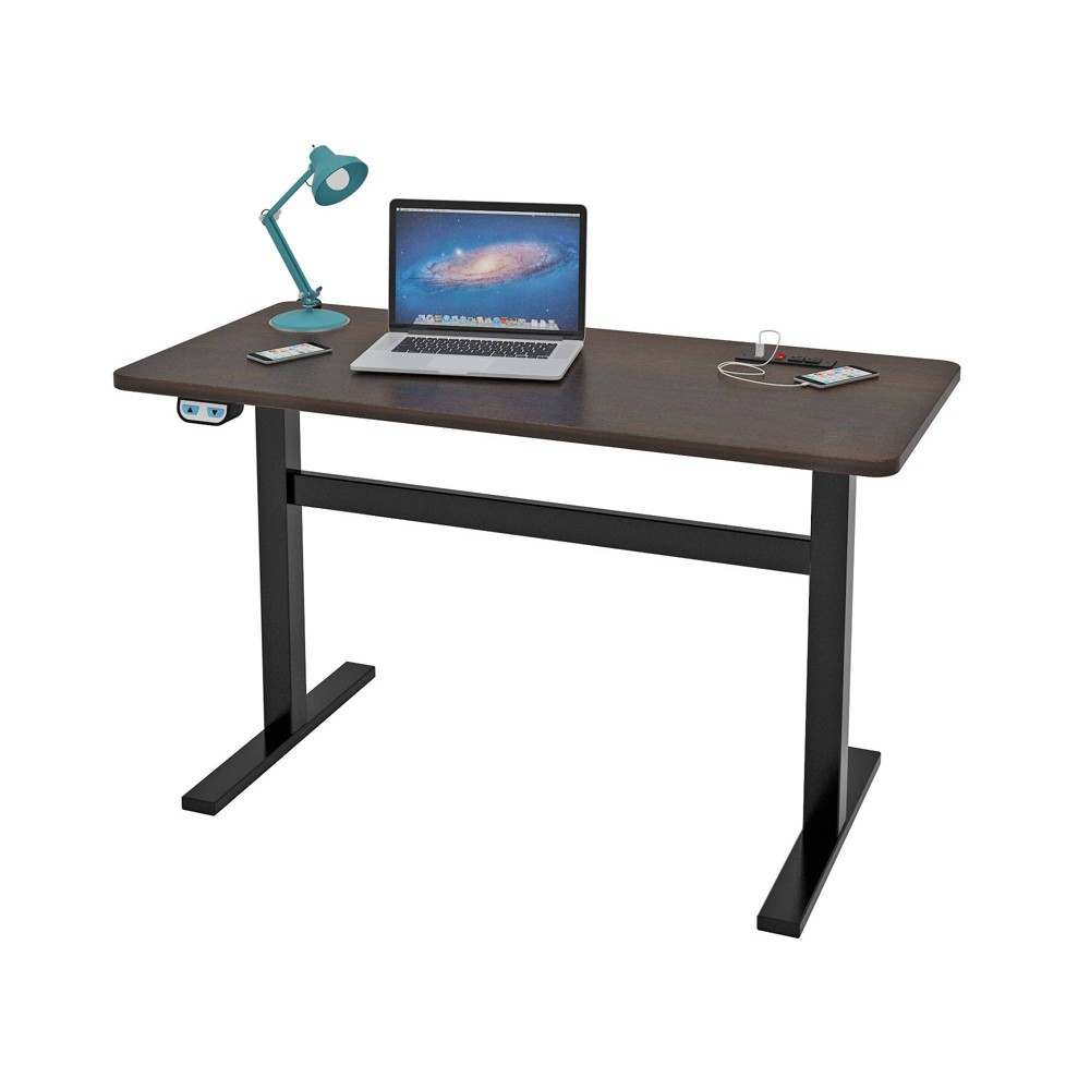 Image of Waltin Electric Adjustable Height Writing Desk Espresso Brown - Monroe + James