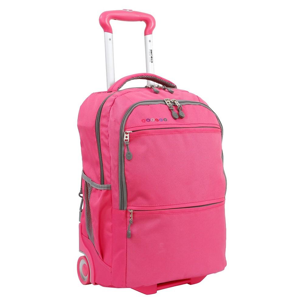 J World 20 Walkway Dual Handle Rolling Backpack - Pink