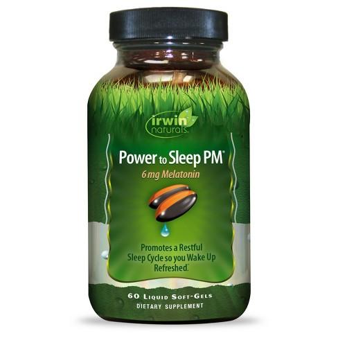 irwin naturals Power to Sleep PM Melatonin Dietary Supplement Liquid Soft-Gels - 60ct - image 1 of 1