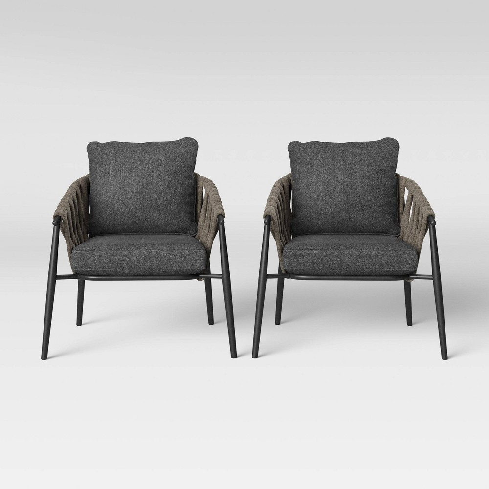 Casson 2pk Patio Club Chair - Gray - Project 62