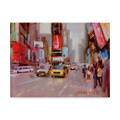"Trademark Fine Art 47"" x 35"" Hall Groat II 'Times Square' Canvas Art - image 1 of 3"