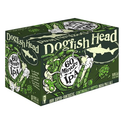 Dogfish Head 60 Minute IPA Beer - 6pk/12 fl oz Cans