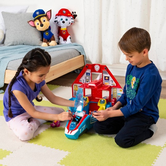 PAW Patrol Super Mighty Pups Transforming Jet Command Center - Ryder image number null