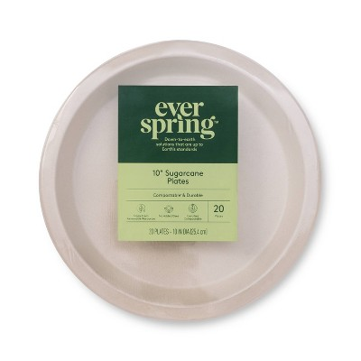 """Disposable Plates 10"""" - 20ct - Everspring™"""
