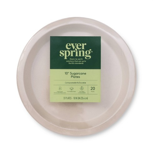"""Disposable Plates 10"""" - 20ct - Everspring™ - image 1 of 2"""