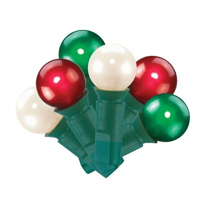 70ct Christmas Incandescent Pearl Lights Red/White/Green GW - Wondershop™