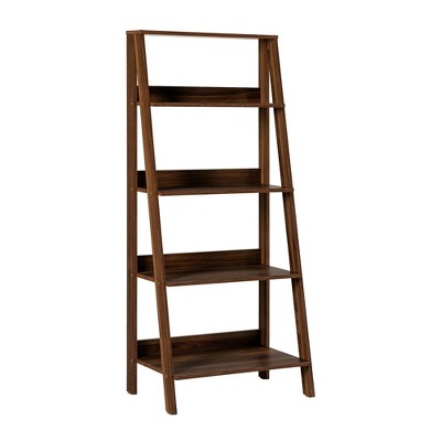 Thatcher Transitional Wood 4 Shelf Ladder Bookshelf - Saracina Home