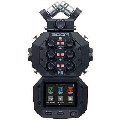 Zoom H8 12-Track Portable Recorder,  Stereo Microphones 6 Inputs, for Stereo/Multitrack Audio for Video, Podcasting, and Music.