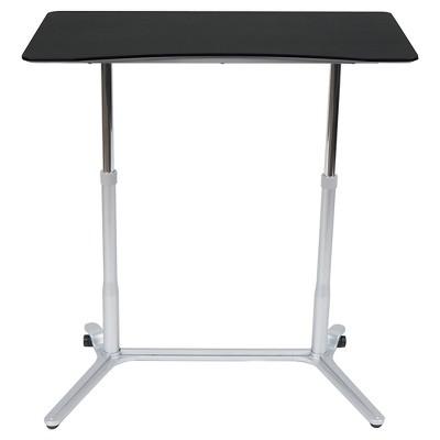 Element Sit-Stand Height Adjustable Desk Silver/Black - Studio Designs