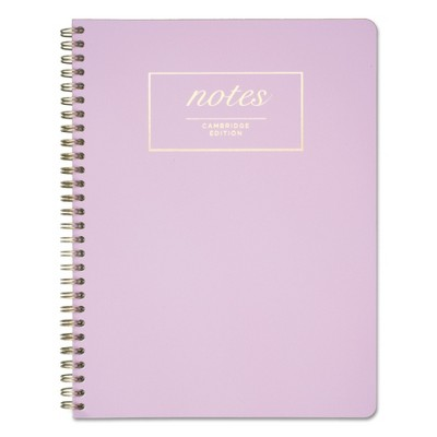 Cambridge Workstyle Notebook, Legal Rule, Lavender Cover, 7 1/4 x 9 1/2, Perforated, 80Pg 59309