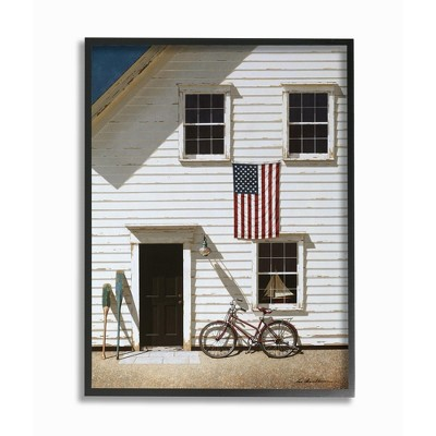 Stupell Industries Americana Cape House Front Vintage Realistic Painting
