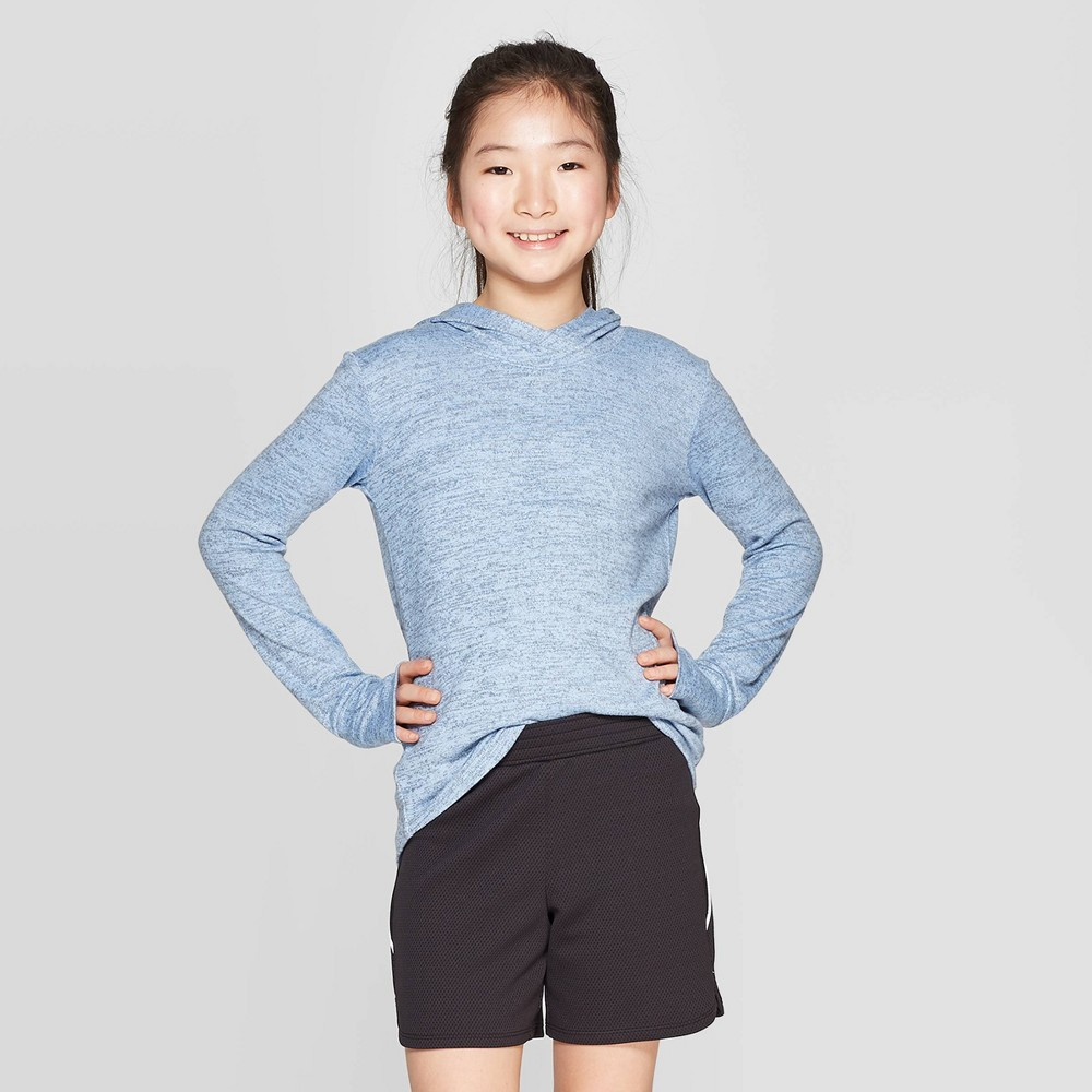 Girls' Cozy Long Sleeve Hoodie - C9 Champion Blue S