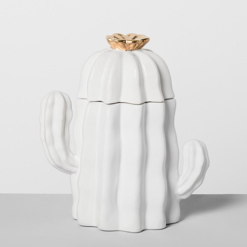 Cactus Ceramic Cookie Jar White - Opalhouse