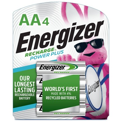 Energizer 4pk Recharge Power Plus Rechargeable AA Batteries