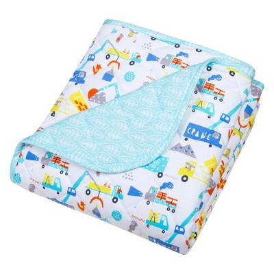 Trend Lab Reversible Baby Quilt - Construction Digger