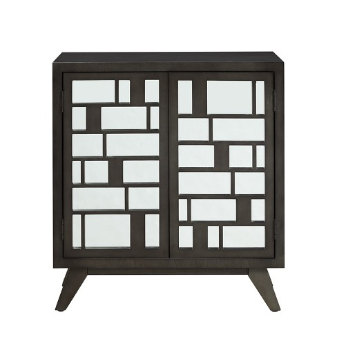 Kendall 2 Door Console Table Charcoal Heather - Powell Company - image 1 of 3