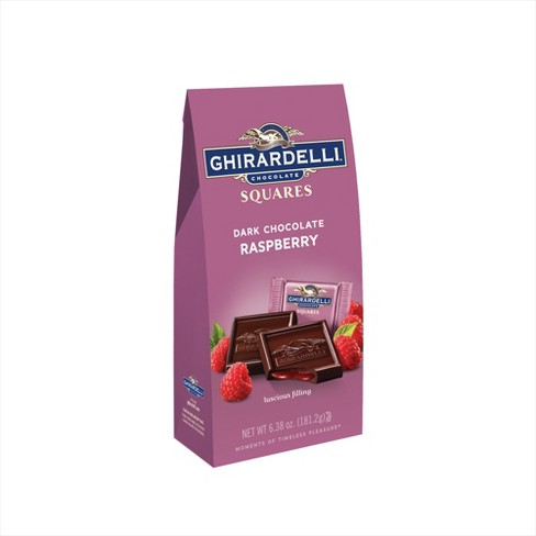 Ghirardelli Dark Chocolate & Raspberry Filling Squares - 6.38oz - image 1 of 1