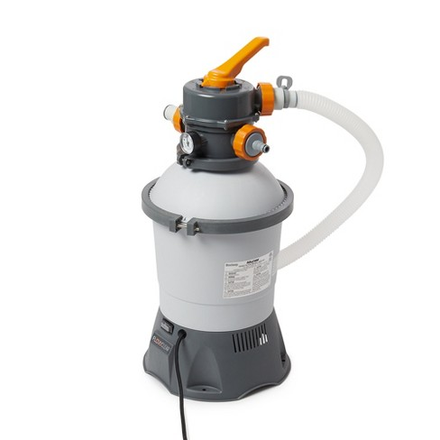 Bestway 58516E Flowclear 530 GPH Silica & Sand Swimming Pool Filter Pump, Gray - image 1 of 4